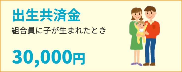 出生共済金 組合員に子が生まれたとき30,000円